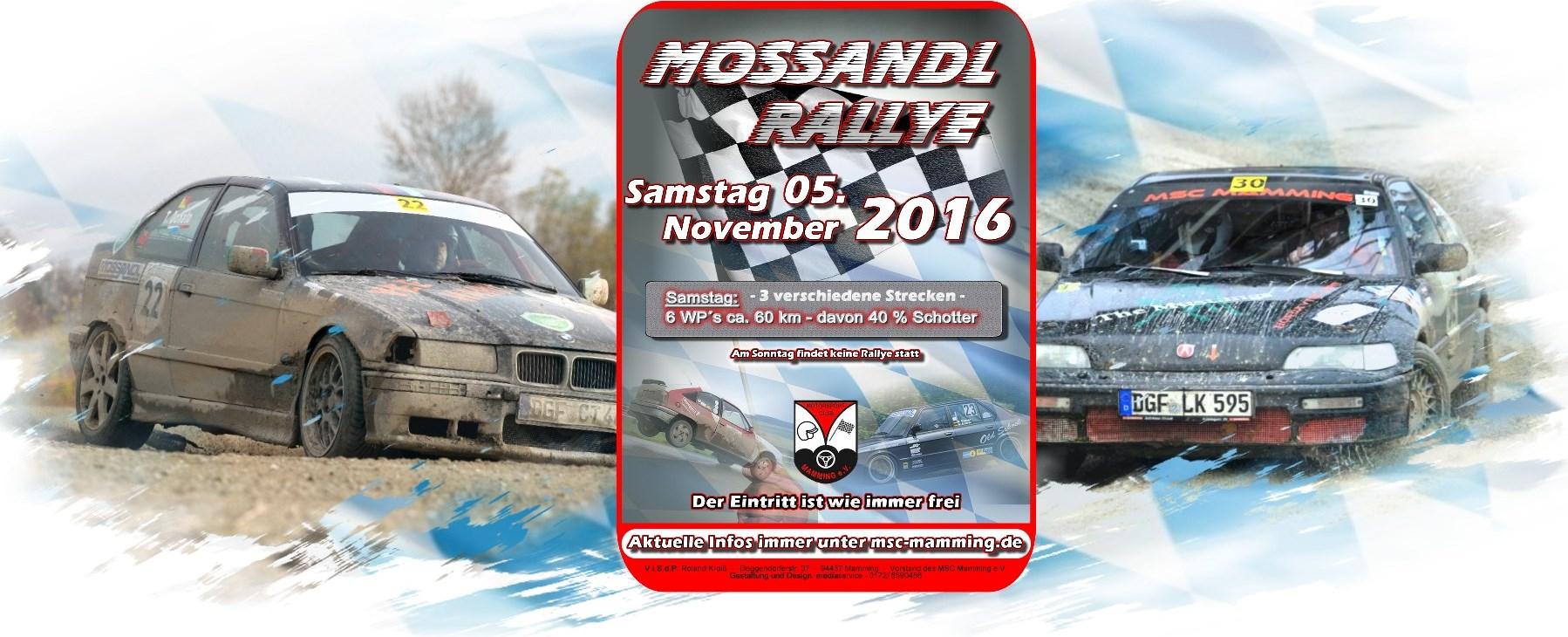 Mossandl-Rallye 2016